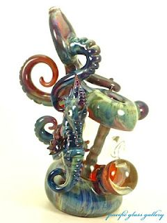 seahorse glass pipe glass blowing art | colorful glass art ...