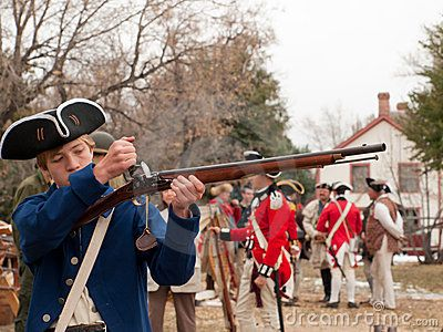 revolutionary war | Revolutionary War Reenactment Stock