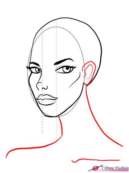 How To Draw 3 4 View Faces I Draw Fashion Drawing Tutorial Face Fashion Drawing Tutorial Drawing Tutorial