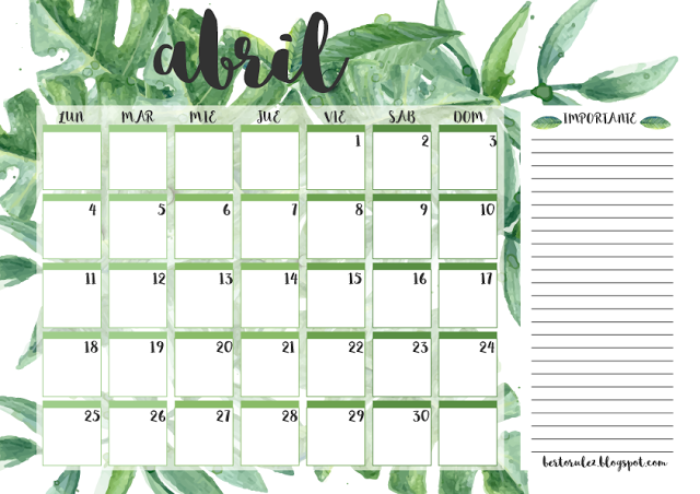 Recursos Bertosos: Planificadores Abril