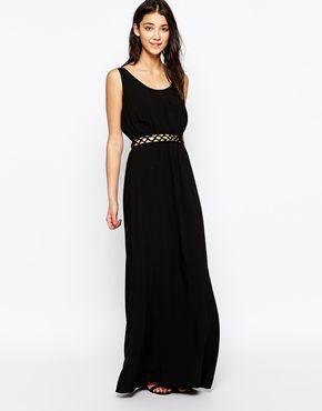 wholesale dealer 824b3 12d53 One Fashion By Vero Moda – Ärmelloses Maxikleid mit Cutouts ...