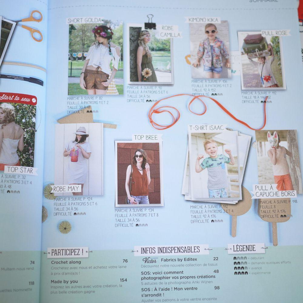 Magazine couture été 2016 Burda, La maison victor  http://mondedeporcelaine.blogspot.fr/2016/07/revue-presse-burda-maison-victor-juillet-2016.html