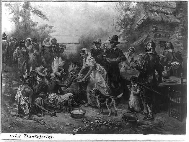 The First Thanksgiving 1621 Thanksgiving Art Vintage Thanksgiving First Thanksgiving