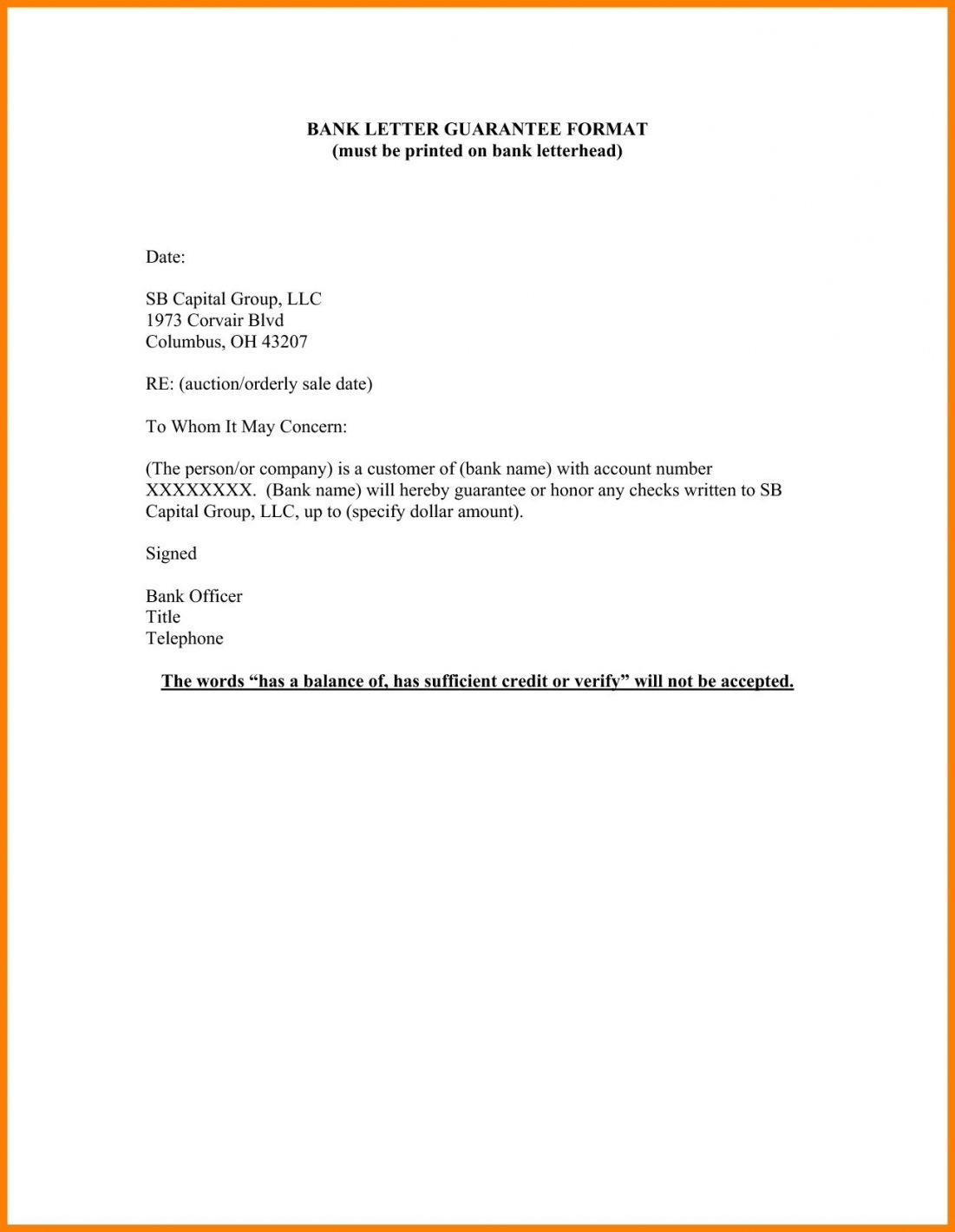 Personal Guarantee Letter Template In 2020 Lettering Formal