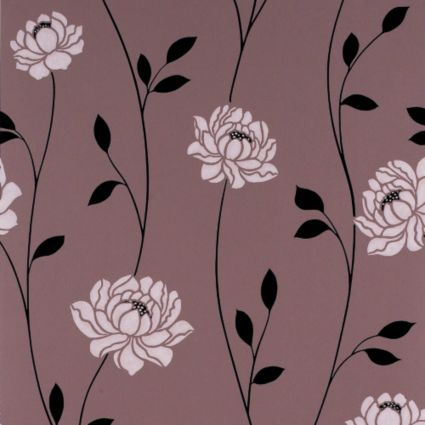 Colours paste the wall sienna chocolate wallpaper departments diy at bq