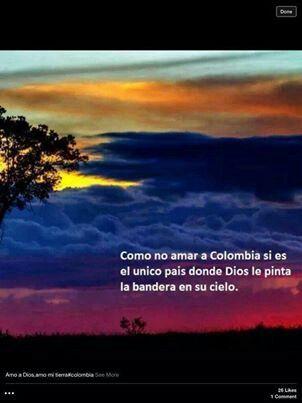Como no amar a Colombia.