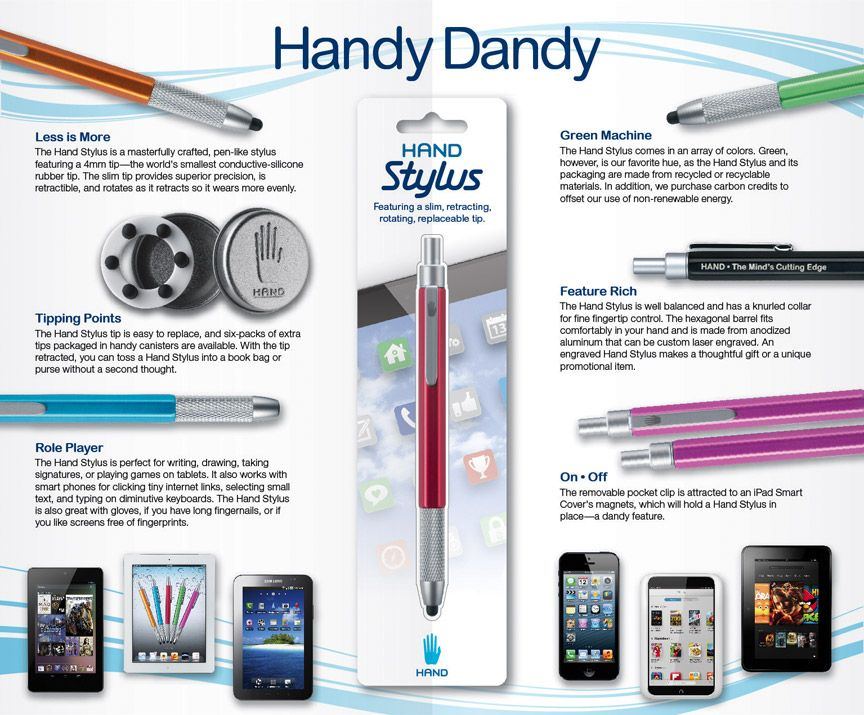 Hand Stylus For Ipad Iphone Android And Kindle Tablets Stylus