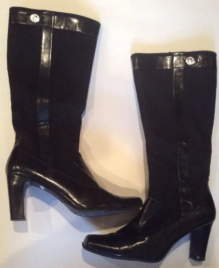 Etienne Aigner Designer Knee High Womens Boots Brittle High Heel Size 10 EUC #EtienneAigner #KneeHighBoots