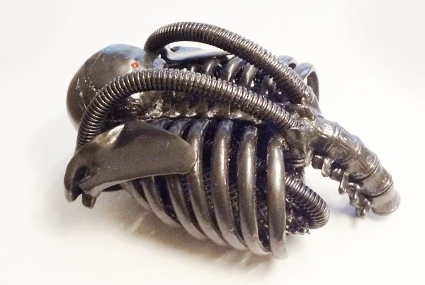 Giger Counter - handmade H. R. Giger-inspired case contains a working Geiger counter from Adafruit