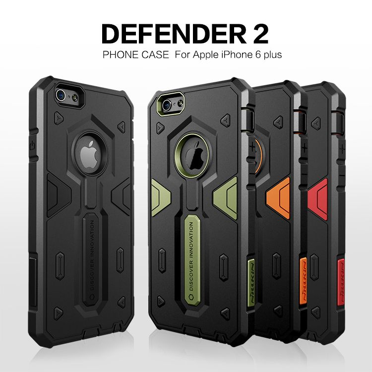 I6 Plus Case TPU For iPhone 6 Plus 5.5 inch Shock Proof Case Cover Fundas PC Back Cover for 6 Plus Accessory+Screen Protector