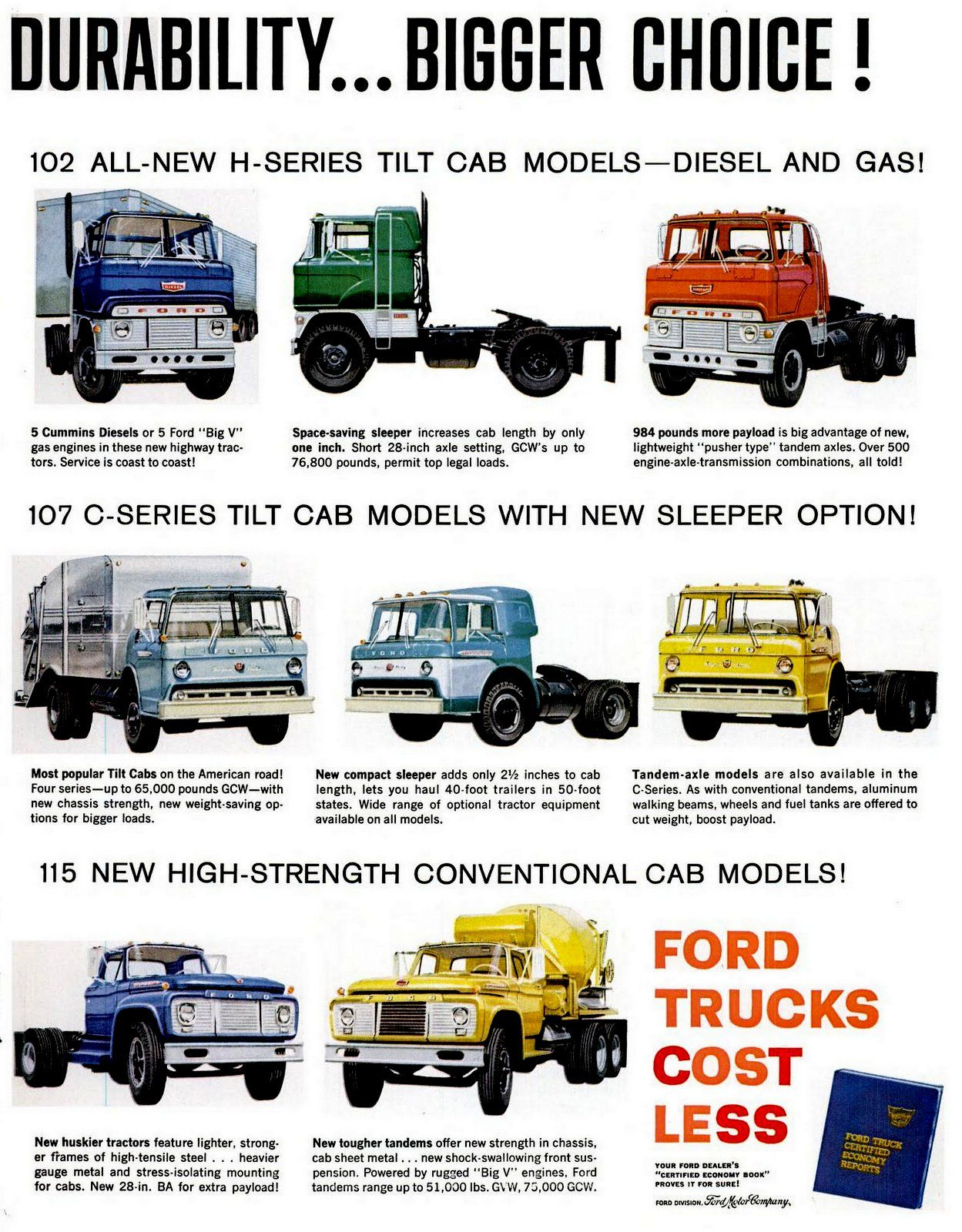 The New Heavy Duty 1961 Ford Trucks Ford Trucks Diesel Trucks Ford