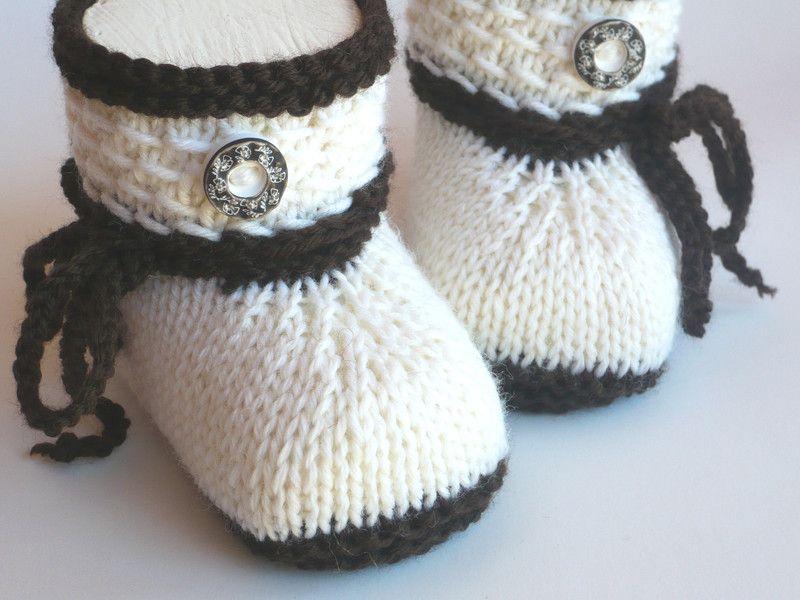 Strick- & Häkelschuhe - Babyschuhe Trachtenschuhe gestrickt - ein ...