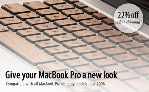 Get Upgrade Your MacBook Pro's Keyboard  - The Walnut Keyboard From Lazerwood (22% off)