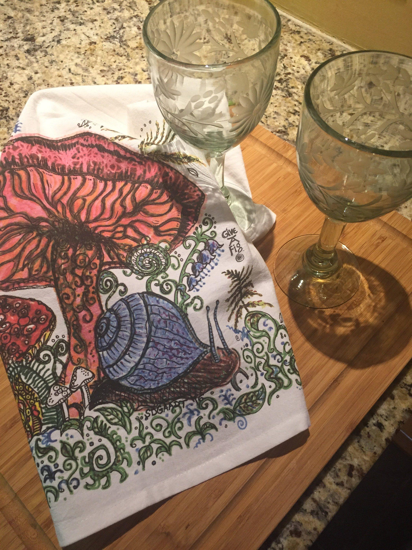 Beautiful Mushroom Tea Towel