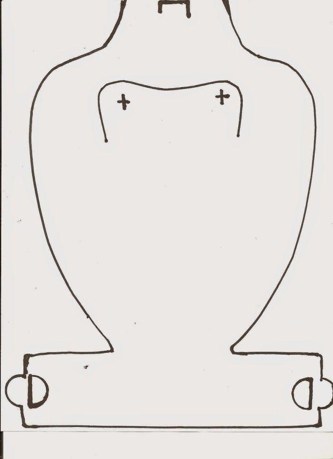 Plantilla para el Exhibidor de collares | Pinterest | Exhibidor ...