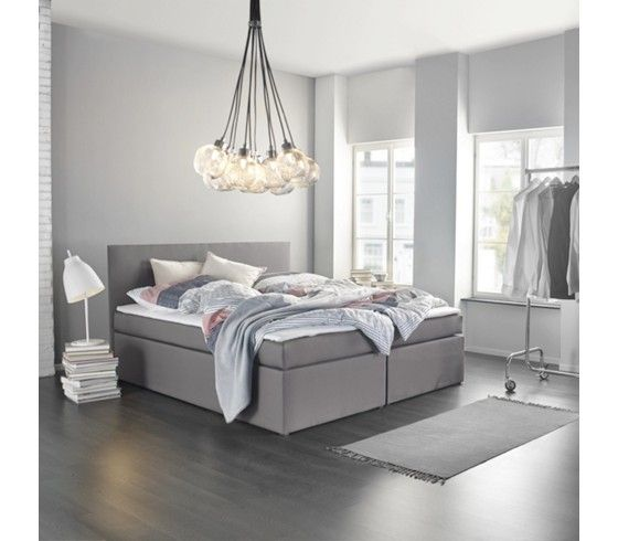 Boxspringbett In Grau Ca 180x 200 Cm Inkl Topper Lucy In 2020