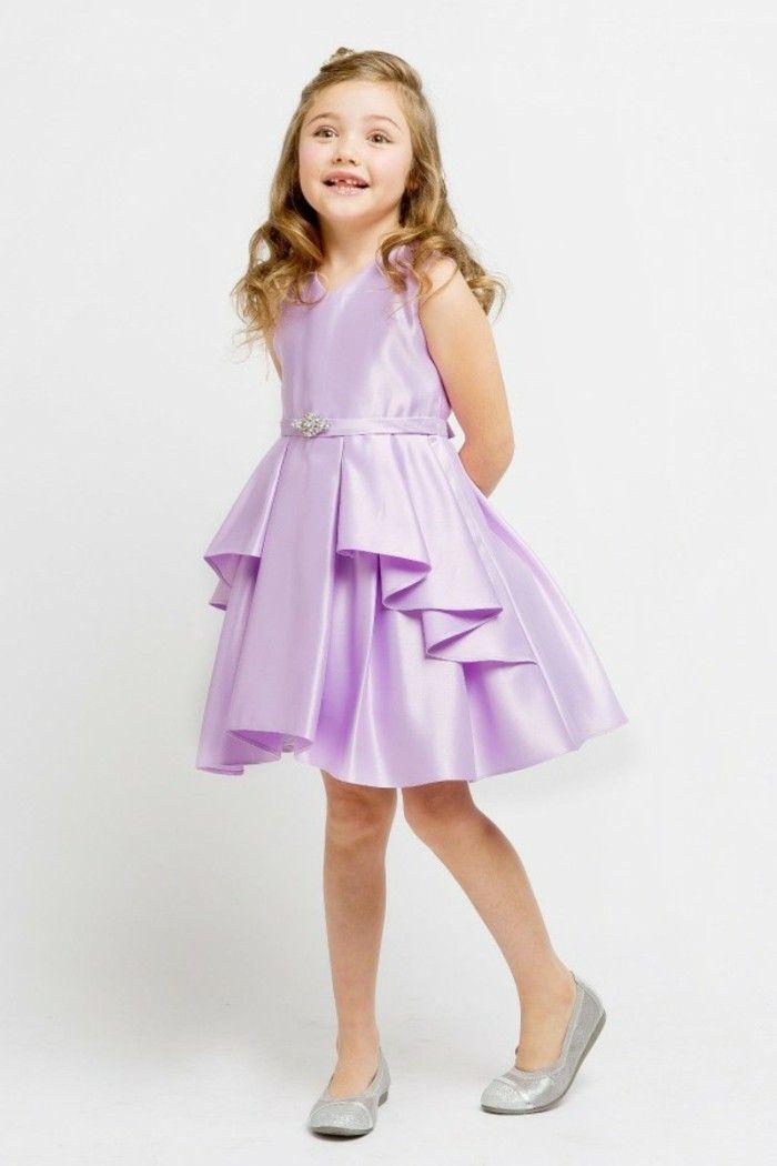 479c842ce9fb tenue mariage enfant Beau cortege robe en lila avec ceinture et effet  degrade devant
