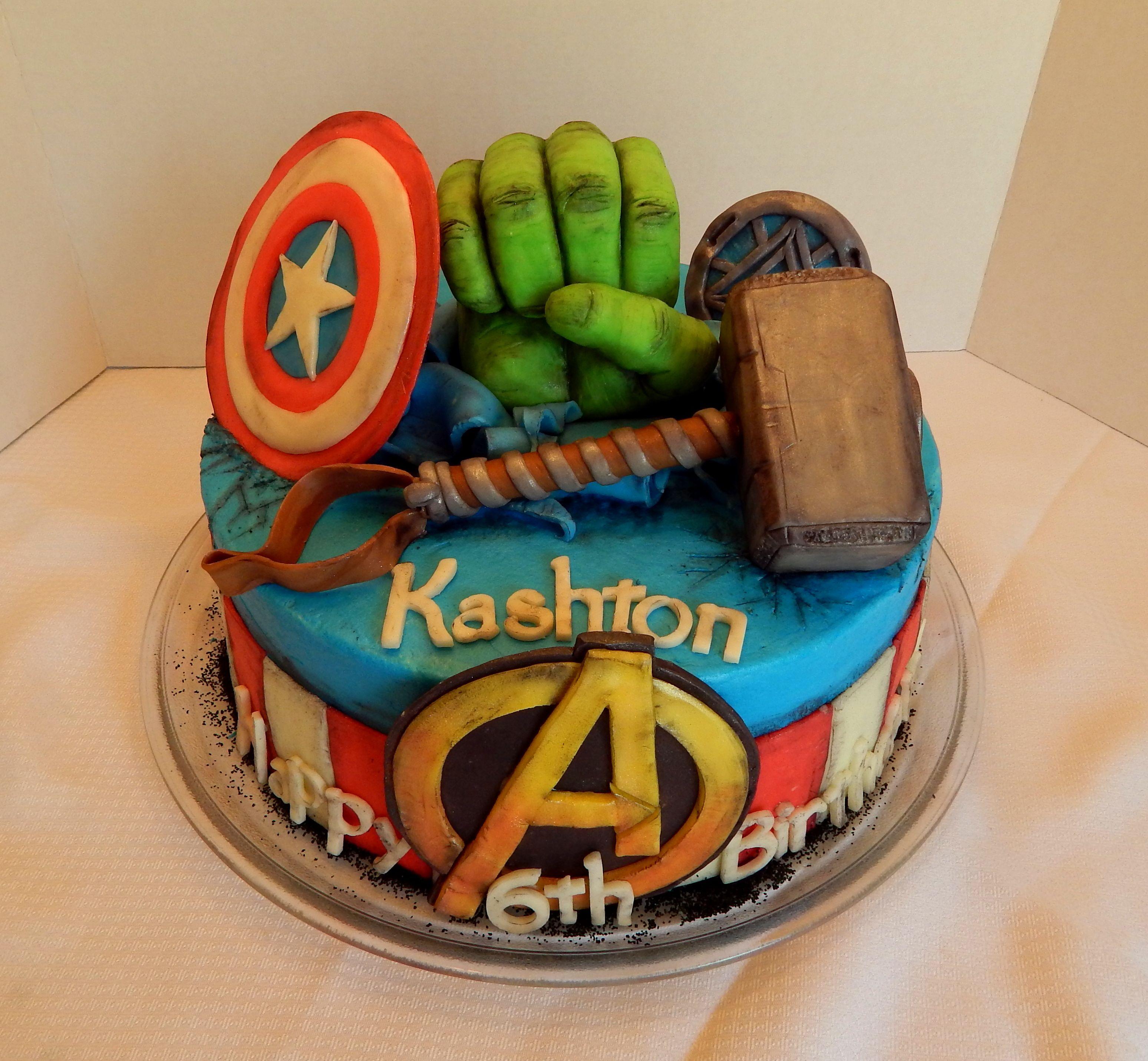 Captain America Novelty Cakes