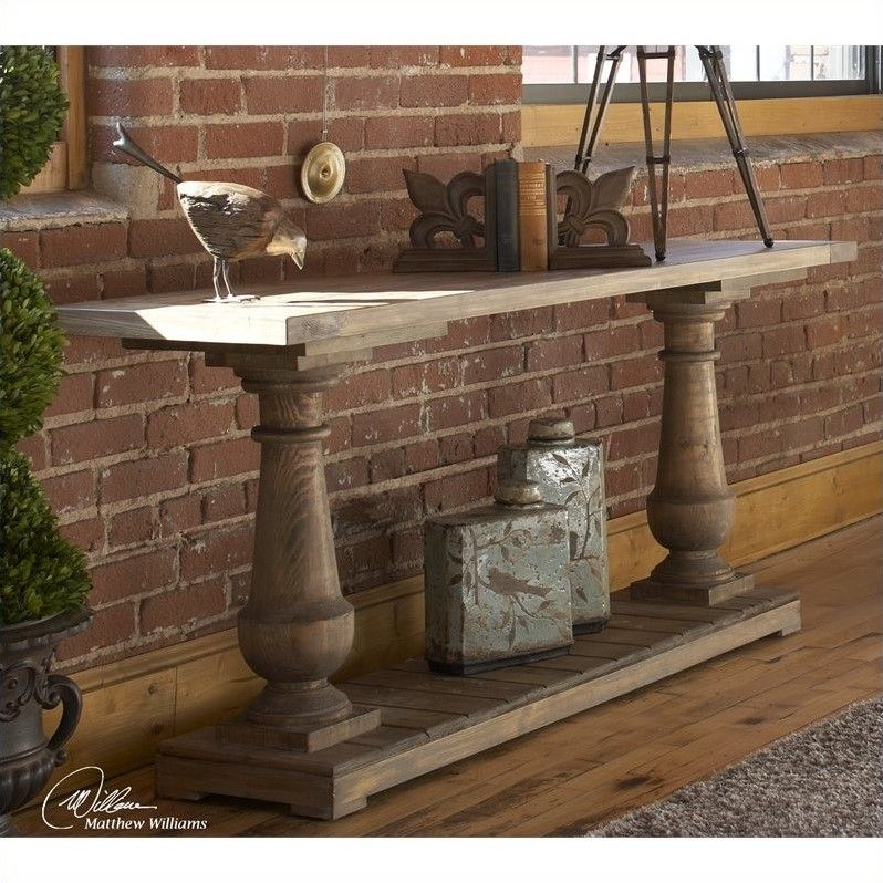 rustic decor console hot table sofa diy decorating home