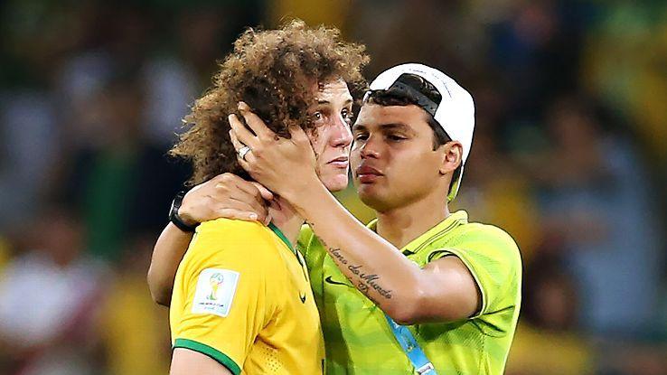 Brazil teammates David Luiz, left, and Thiago Silva will be hoping for brighter things this coming season at PSG.