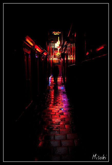 Red Light Rainy Night In 2020 Red Light District Cool Places