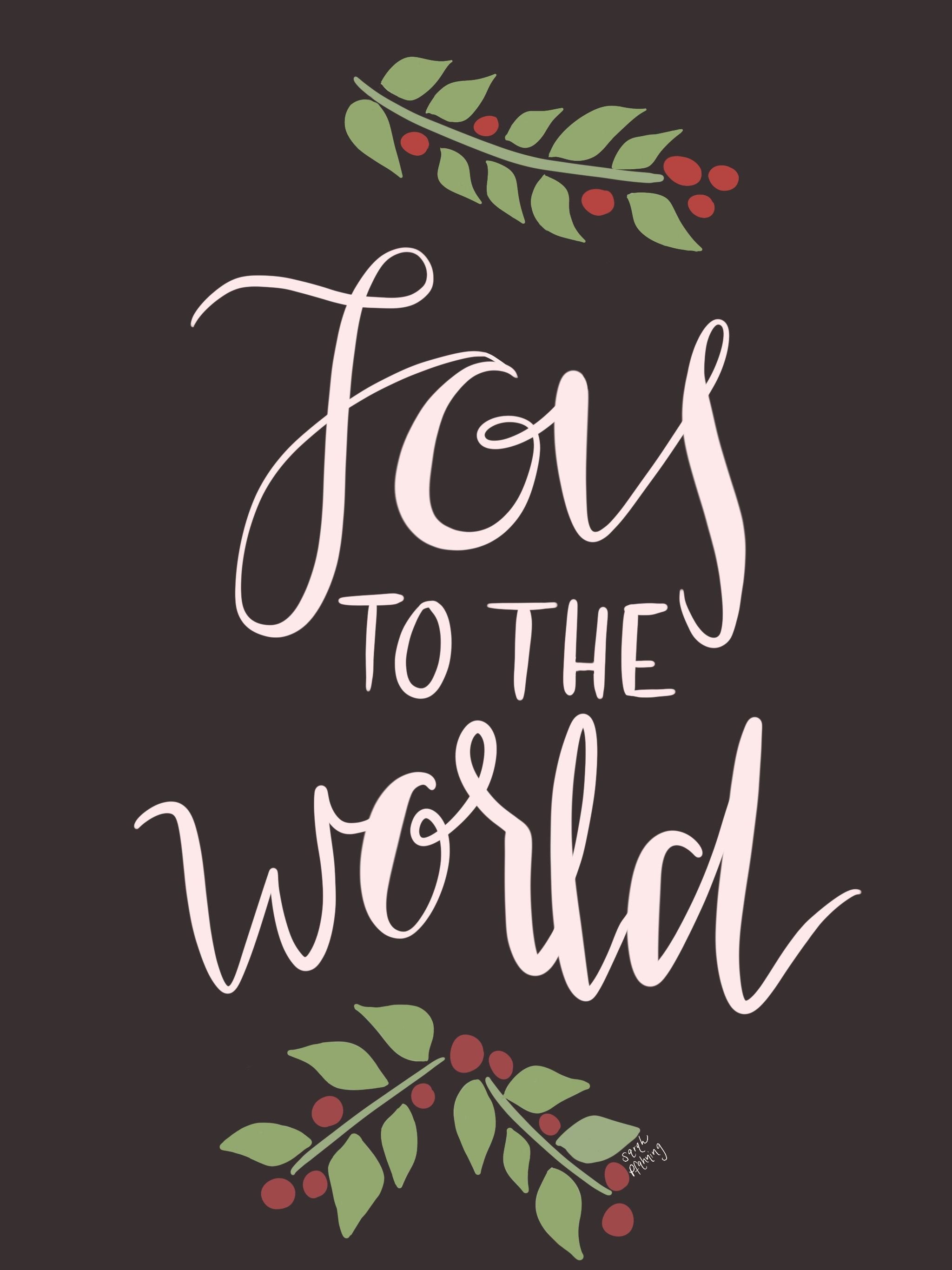 """Joy to the World"" hand lettering, chalk lettering, iPad Pro, procreate app, Christmas lyrics ..."