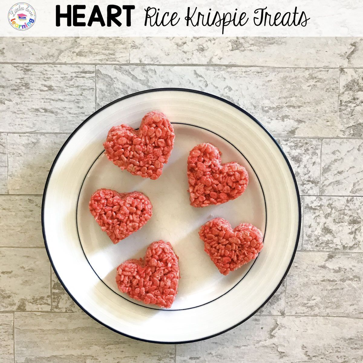 Heart Rice Krispie Treat inspired by Olive My Love for Preschool, Pre-K, and …