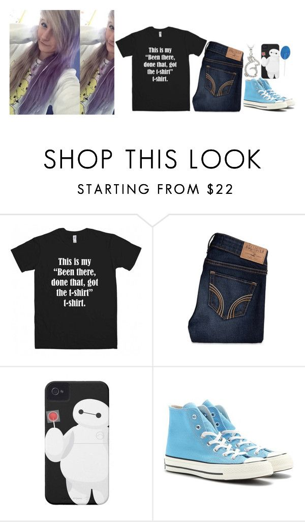 """""""-sitting on the school roof, looking at the sky-"""" by m-ystic ❤ liked on Polyvore featuring beauty, Hollister Co., Converse and DB Designs"""