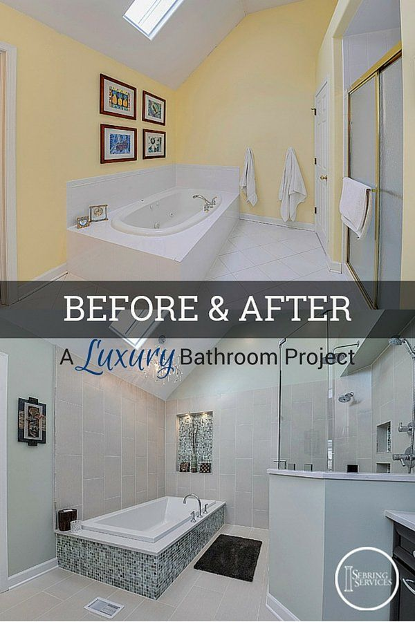 Before After A Luxury Bathroom Remodel Luxury Remodel Bathroom Amazing Bathroom Remodeling Naperville
