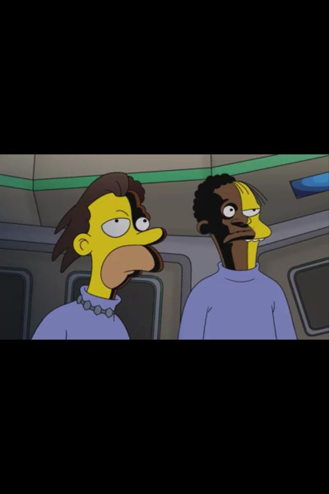 Lenny And Carl As Let That Be Your Last Battlefield S Lokai And Bele From The Simpsons January 4 2015 Episode The Man Who Star Trek Episodes Star Trek Trek
