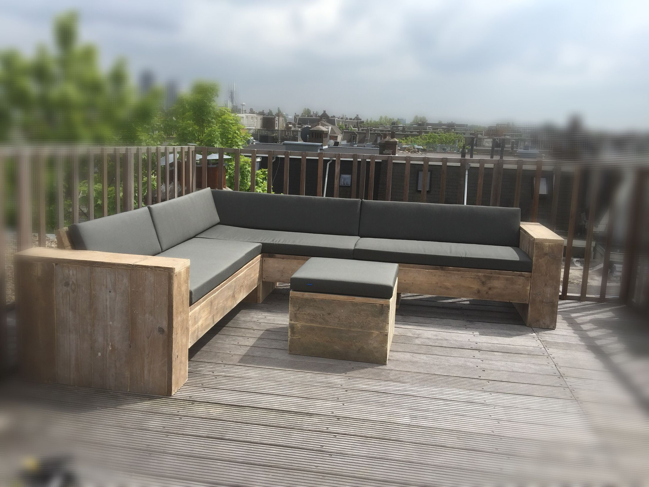 Hoekbank loungeset Pallets Pinterest Diy outdoor furniture
