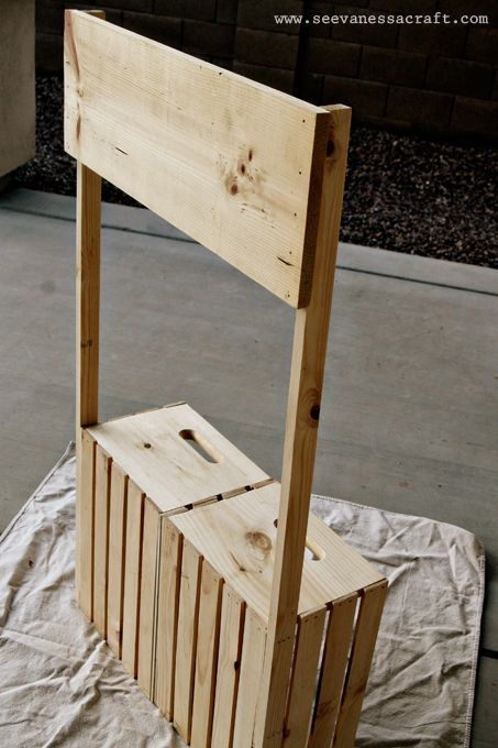 diy tutorial crate lemonade stand for kids wood stool