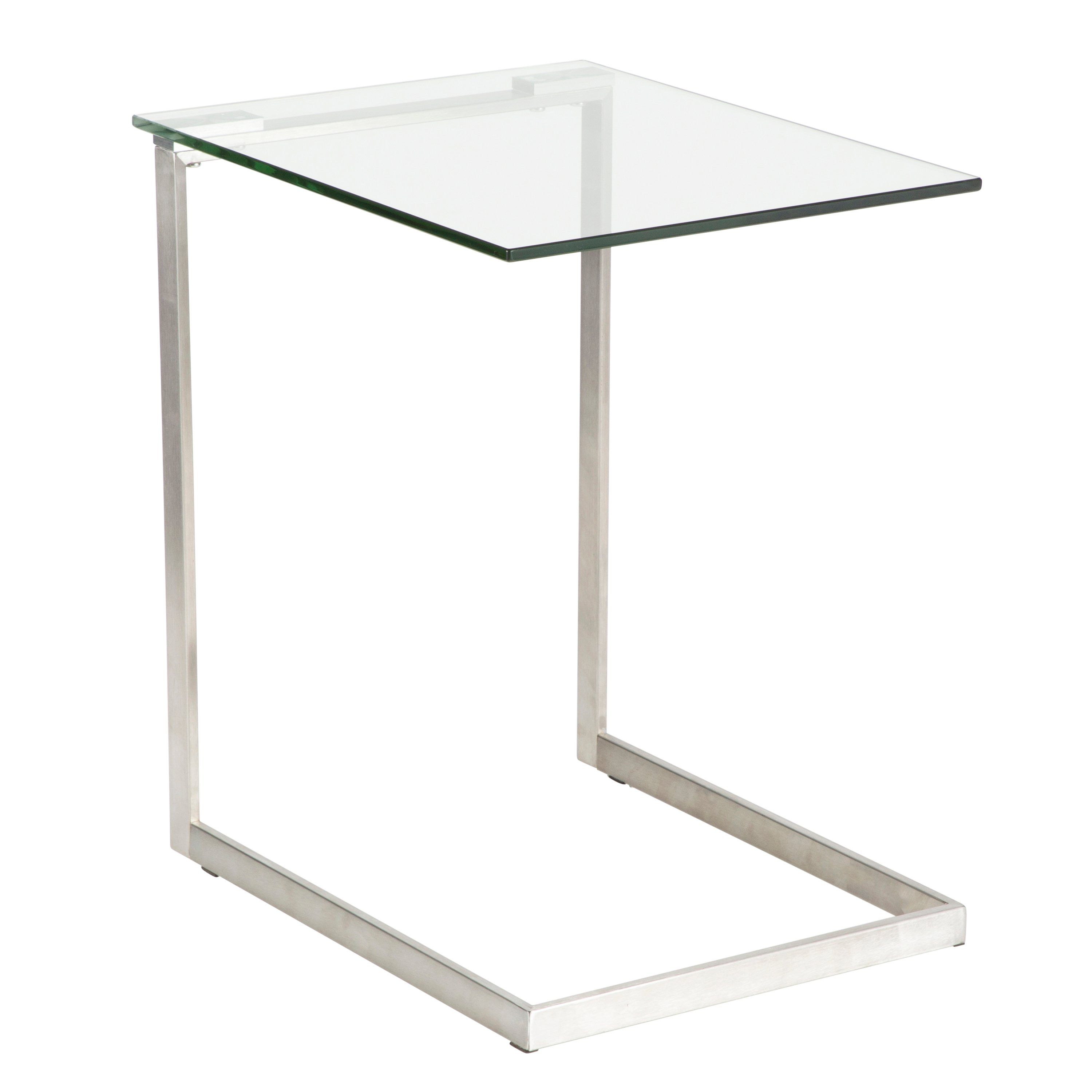 Modern Clear Glass End Table Zenn Glass End Tables Modern End