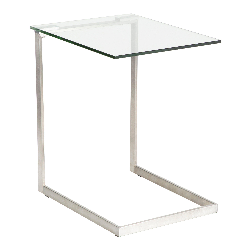 Modern Clear Glass End Table Zenn Glass End Tables Modern End Tables Contemporary Glass Coffee Tables