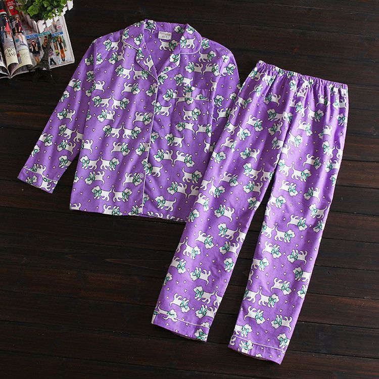 Excellent Quality !Brand !Purple Dog Autumn women girls ladies casual cotton clothing ladies leisure sleepwear pyjama set-in Pajama Sets from Women's Clothing & Accessories on Aliexpress.com | Alibaba Group