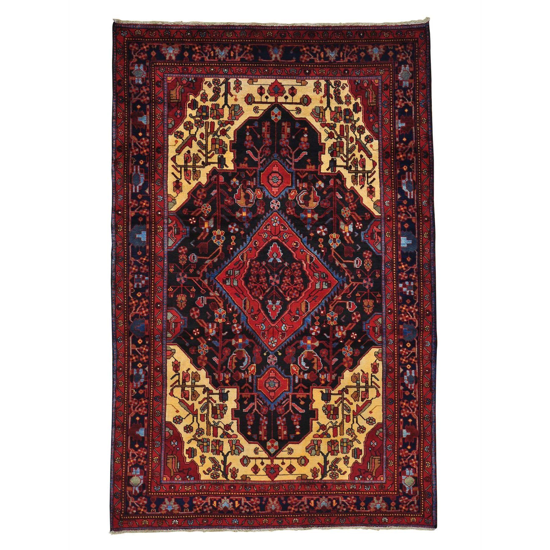 1800getarug Handmade Full Pile Persian Nahavand Area Rug