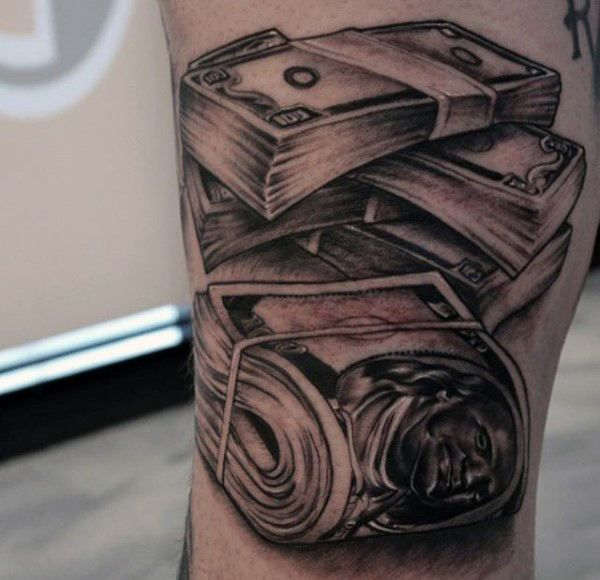 Men's Money Stacks Tattoo | tattoos | Pinterest | Money ...