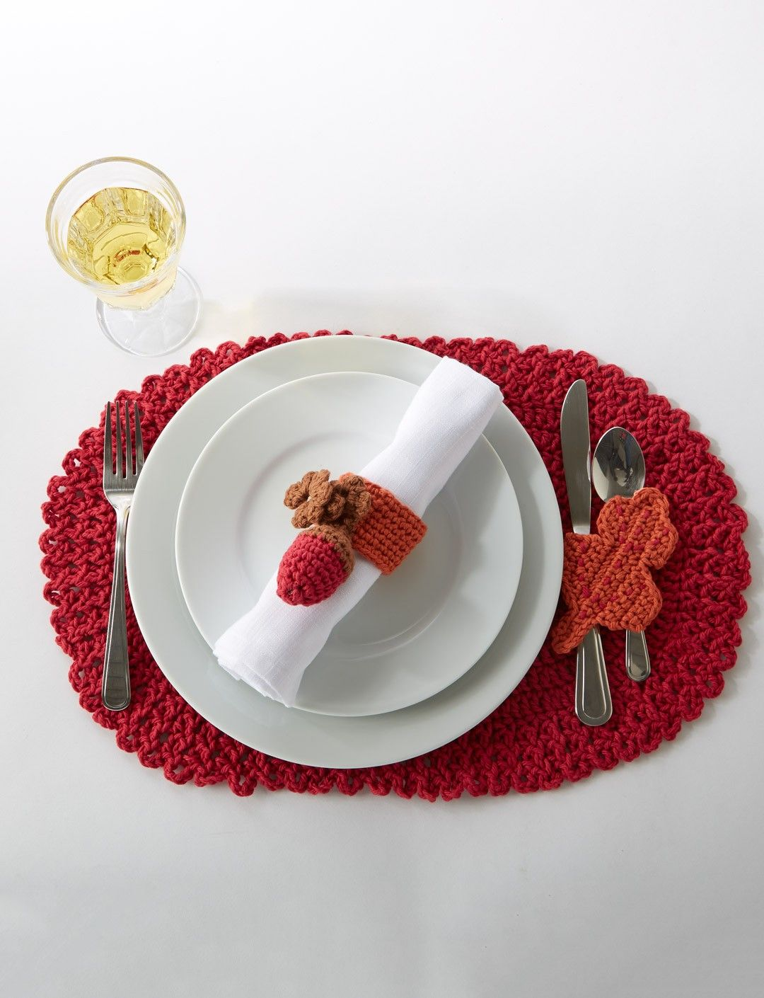Yarnspirations.com - Caron Thankful Placemats - Patterns ...