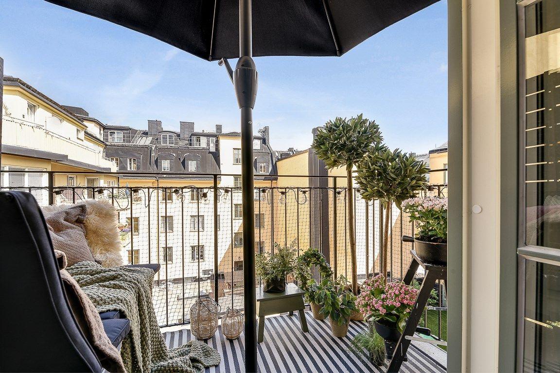 Квартира 42 кв.м. | Открытый балкон, Дом и Веранда