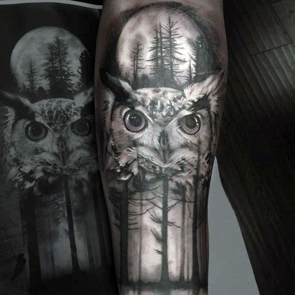 40 Owl Forearm Tattoo Designs For Men Feathered Ink Ideas Owl Forearm Tattoo Owl Tattoo Sleeve Tattoo Designs Men