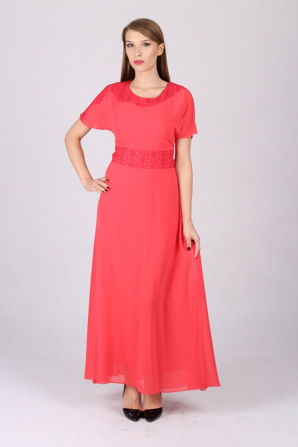Long dress model margo collection spandex polyester