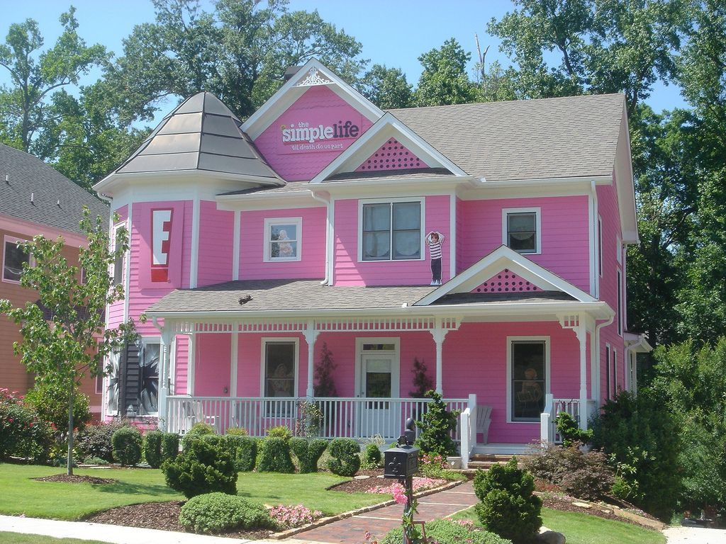 Pink House Pink Houses Exterior House Colors Exterior Paint Colors