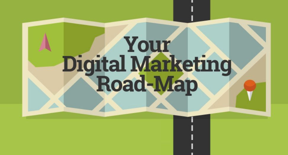 Your Digital Marketing Roadmap - infographic Digital marketing - components marketing plan