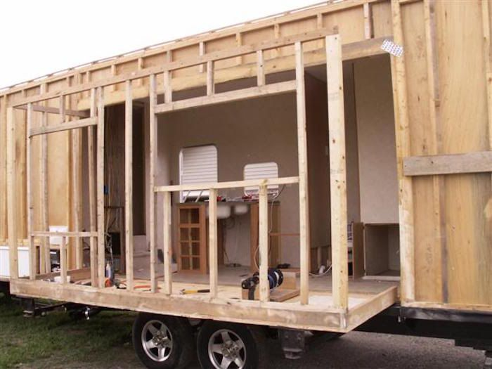 How This Man Built His Own Diy Rv Slide Out Tiny House On Wheels