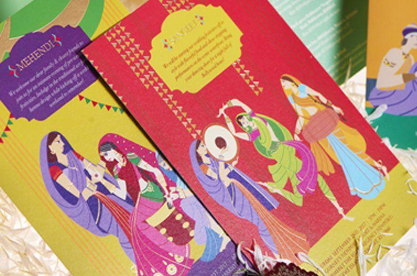 wedding invitation templates in telugu%0A Wedding Invitation Designs  Indian Wedding Cards Printing   Turmericink