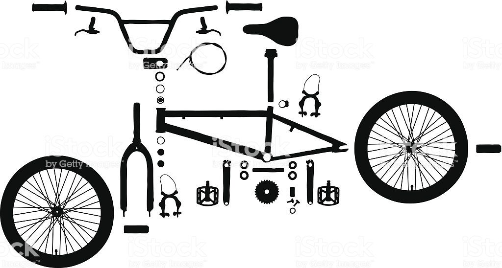 All Of The Parts That Make Up A Bmx Bike Bike Icon Bicycle