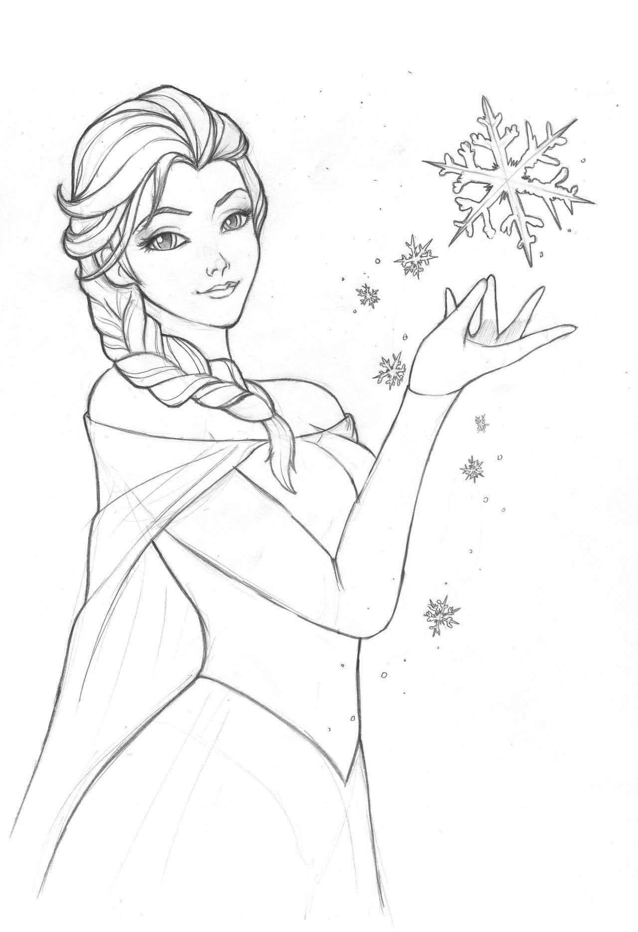 Elsa By Ekkimu On Deviantart Elsa Disney Sketches Art [ 1870 x 1280 Pixel ]