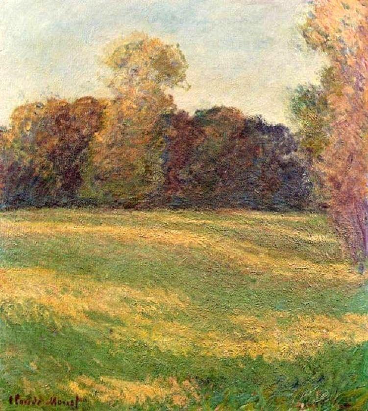 Prairie ensoleillée, Giverny (C Monet - W 1082),1886.