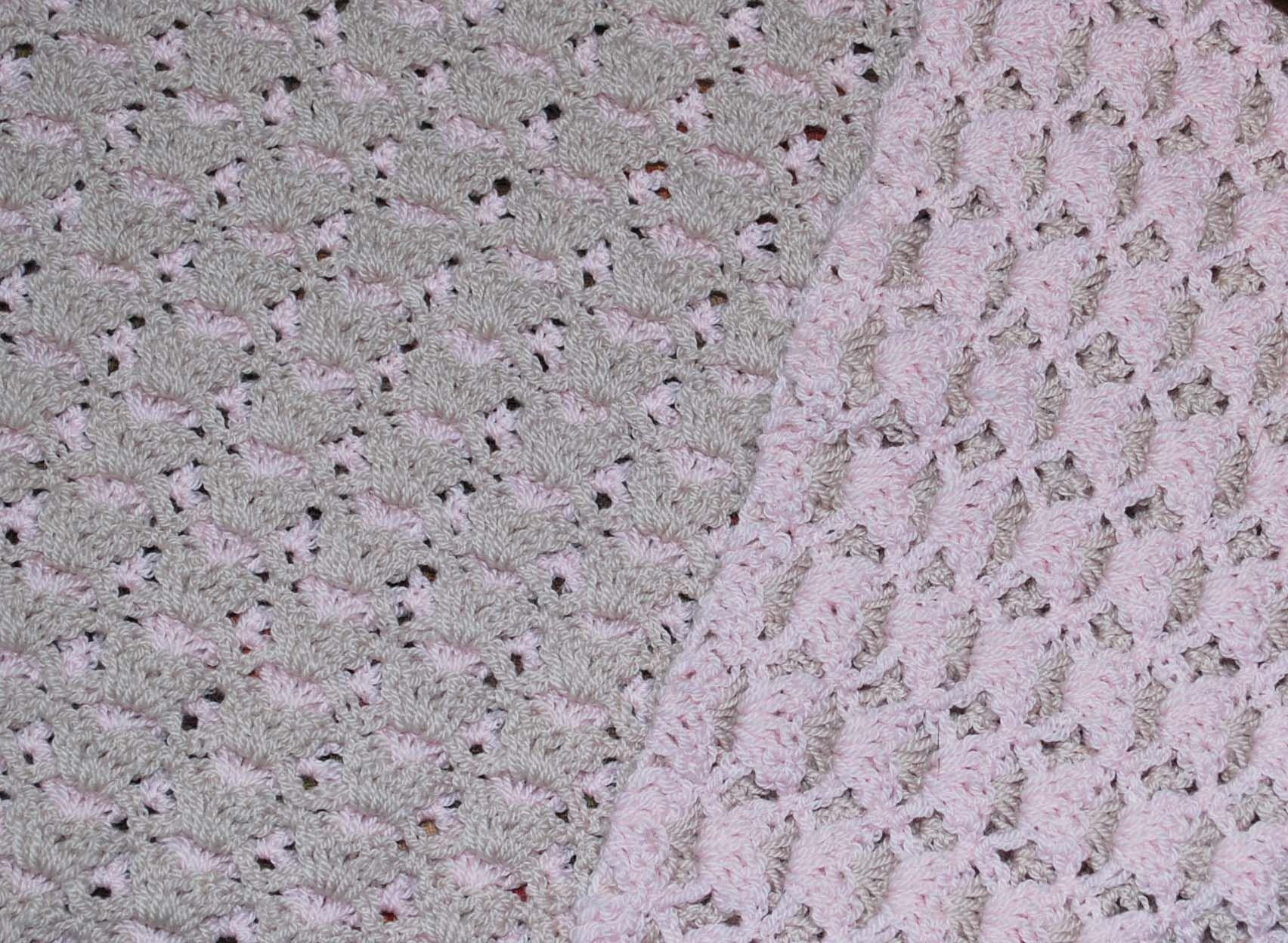Reversible Shell Baby Blanket | Decken, Gehäkelte decken und Häkeln
