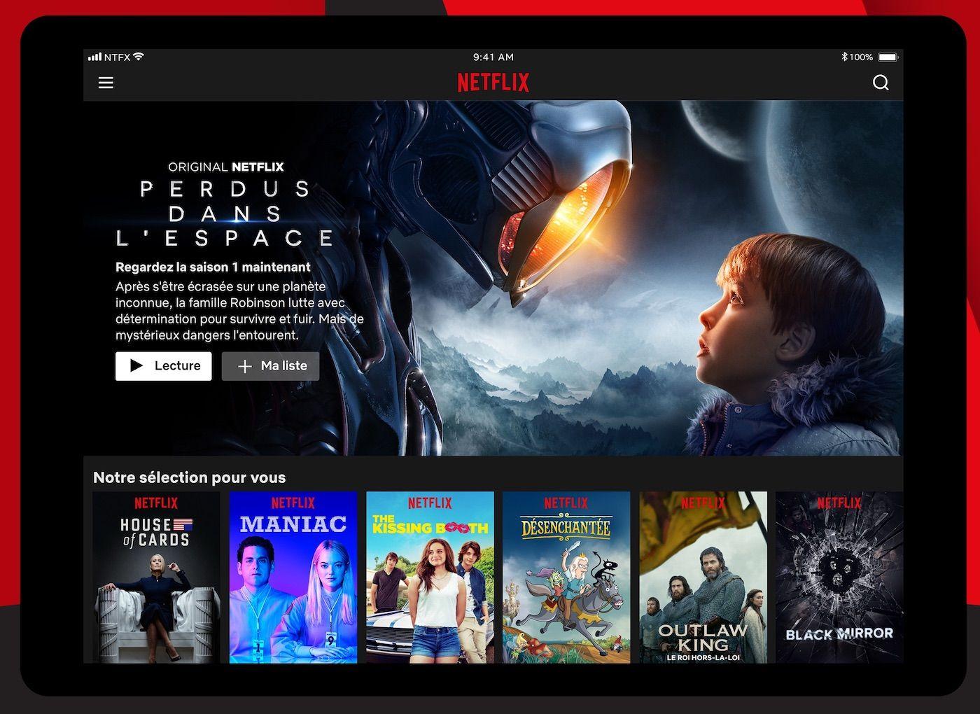 Netflix ne compte pas porter son application iPad sur Mac